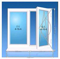 Окно ПВХ OPENTEСK 1420*1330 однокамерный стеклопакет