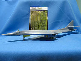 Набор деталировки для модели самолета Ту-160. 1/144 METALLIC DETAILS MD14436