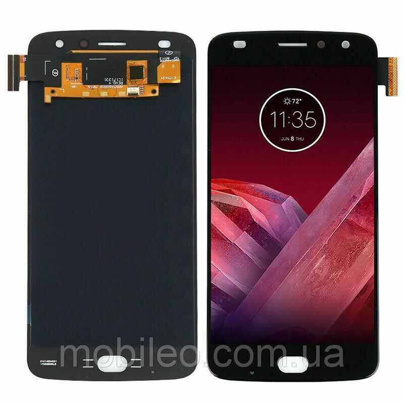Дисплей (LCD) Motorola XT1710 Moto Z2 Play TFT с тачскрином, чёрный