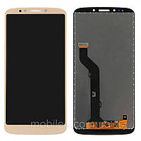 Дисплей (LCD) Motorola XT1924 Moto E5 Plus с тачскрином, золотой