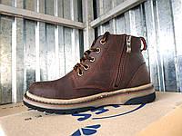 Подростковые кожаные зимние ботинки для мальчиков 35 - 39 размер, фото 1