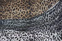 Диско. Принт леопард золотистий . Трикотаж стрейчовий, еластичний, з люрексовою срібною ниткою., фото 1