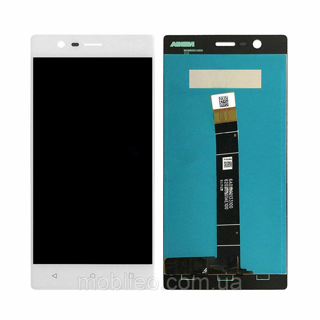 Дисплей (LCD) Nokia 3 Dual Sim   TA-1020   TA-1028   TA-1032 с тачскрином, белый