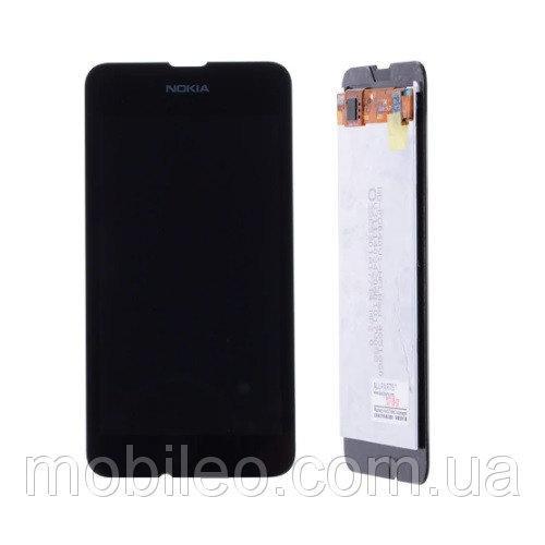Дисплей (LCD) Nokia 530 Lumia | RM-1017 | RM-1019 с тачскрином, черный