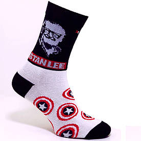 """Носки белые женские с принтом """"Stan Lee"""""""