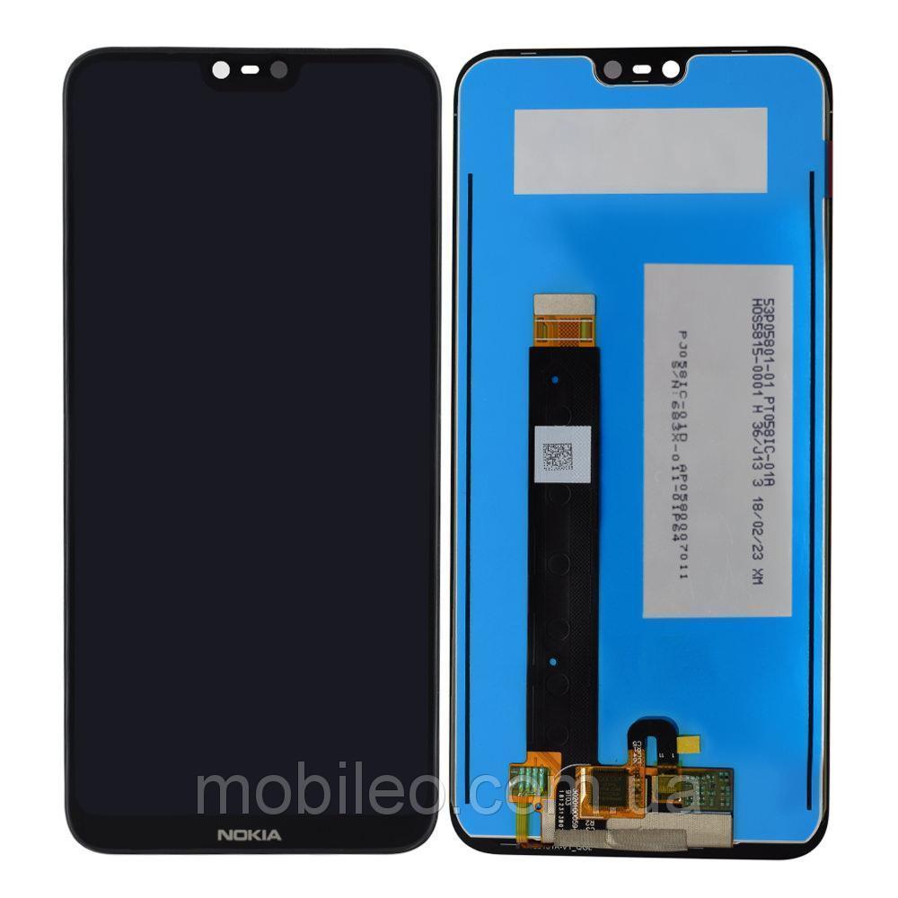 Дисплей (LCD) Nokia 6.1 | TA-1050 | TA-1043 с тачскрином, чёрный