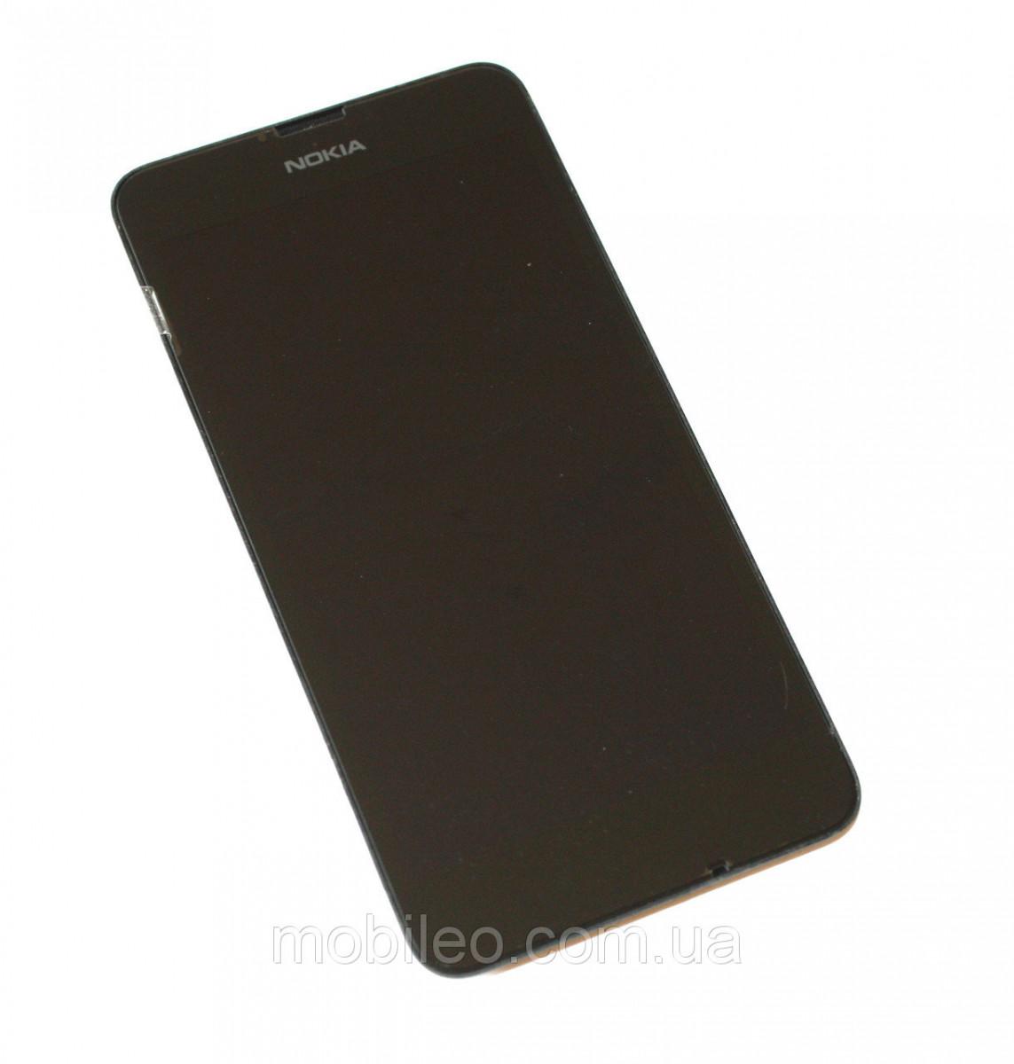 Дисплей (LCD) Nokia 630 Lumia | 635 | 636 | 638 с тачскрином, чёрный