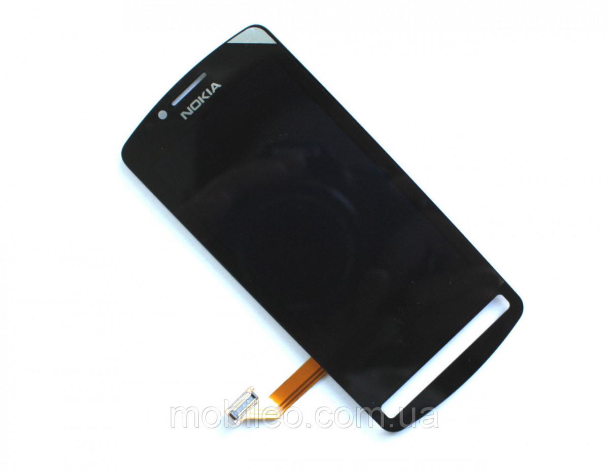 Дисплей (LCD) Nokia 700 с тачскрином, чёрный, оригинал (PRC)