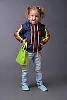 Стильная детская куртка ветровка Унисекс на синтепоне