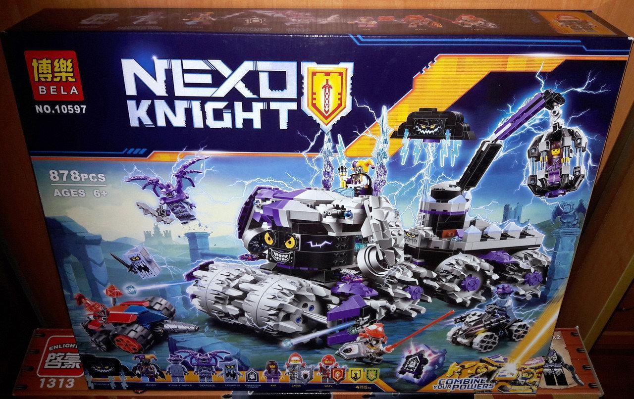 """Конструктор Bela Nexo Knights """"Штурмовой разрушитель Джестро"""" 10597 (Аналог 70352) 878 деталей"""
