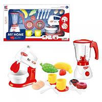 Набор бытовой техники 3201A  миксер, блендер,свет,посуда, продукты