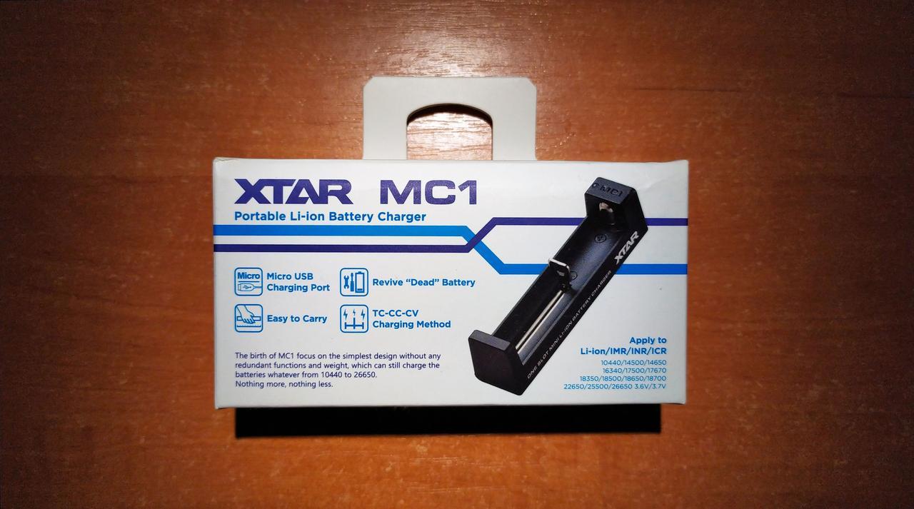 XTAR MC1 – простое и надежное зарядное устройство для литий ионных (Li-ion) аккумуляторов IMR, INR, ICR 18650
