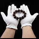 Белые хлопчатобумажные 100% перчатки (размер L)., фото 6