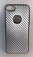 Силикон Iphone 7 Fashion Carbon серебрянный