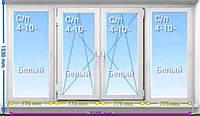 Балконная рама ПВХ REHAU Ecosol 60 3100*1530 однокамерный стеклопакет
