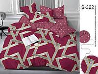 ✅  Полуторный комплект постельного белья (Люкс-сатин) TAG S362
