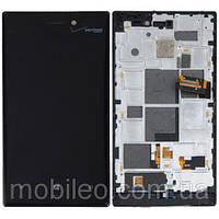 Дисплей для Nokia 928 Lumia с тачскрином, чёрный