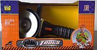 Болгарка на батарейках + очки (1166C) в коробке