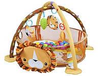 Дитячий розвиваючий коврик ЛЕВ + кульки Развивающий коврик