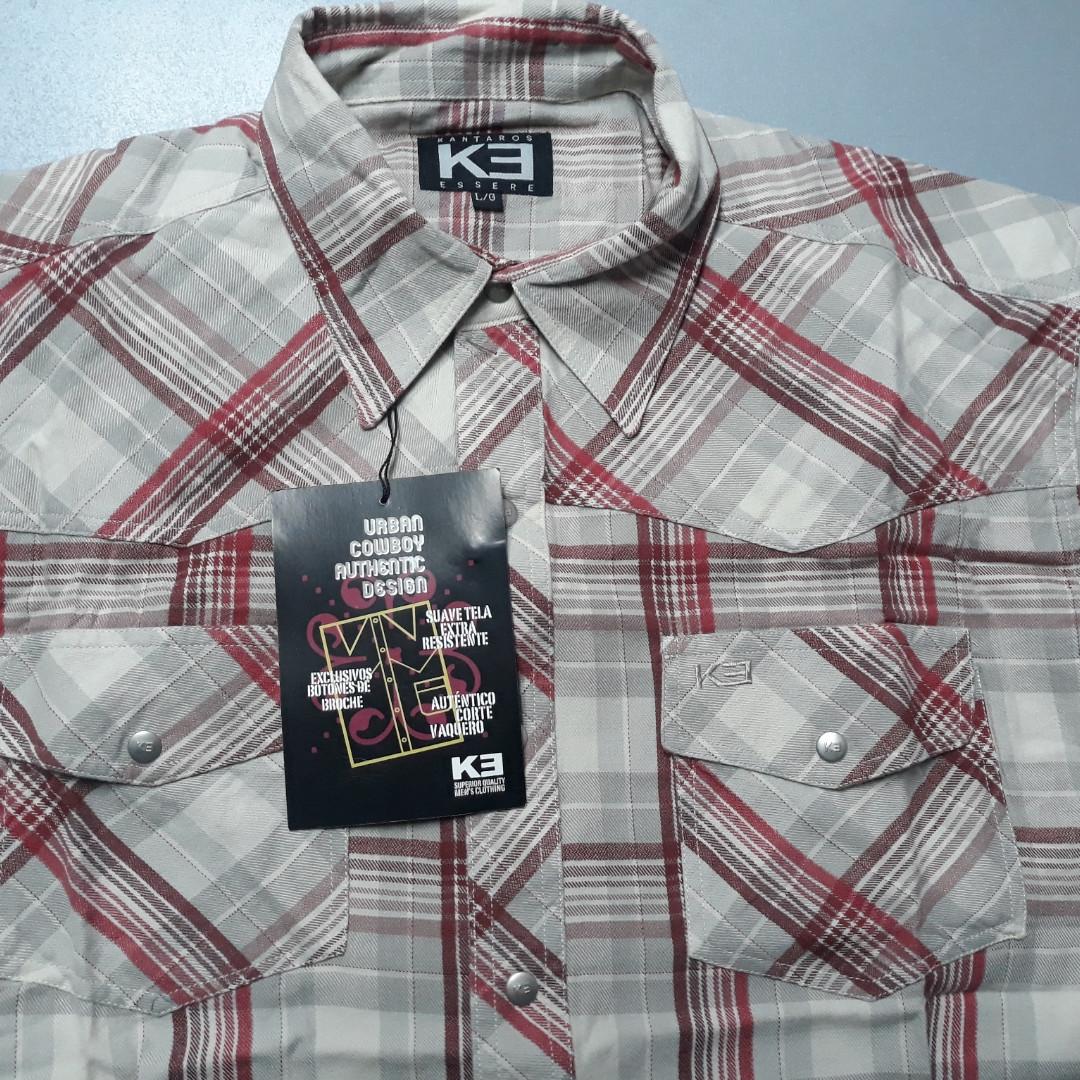 Джинсовая рубашка KE 100% хлопок (размер L)