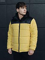 Зимняя куртка мужская Staff retro black and yellow