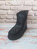 Черные кожаные угги Ugg с камнями, фото 4