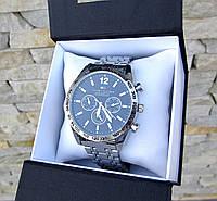 Мужские наручные часы в стиле Tommy Hilfiger серебристые. Наручные кварцевые часы из стали. Годинник чоловічий
