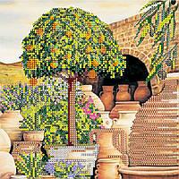 """Схема для вышивания бисером на художественном холсте """"Мандариновое дерево"""""""