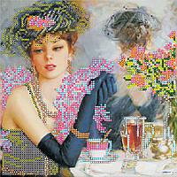 """Схема для вышивания бисером на художественном холсте """"Парижанка"""""""