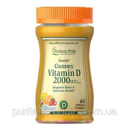 Puritan's Pride Vitamin D3 2000 IU 60 Gummies, фото 2