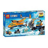 """Конструктор LELE Cities """"Арктический грузовой самолёт"""" 28021 (Аналог LEGO City 60196) 743 деталей"""