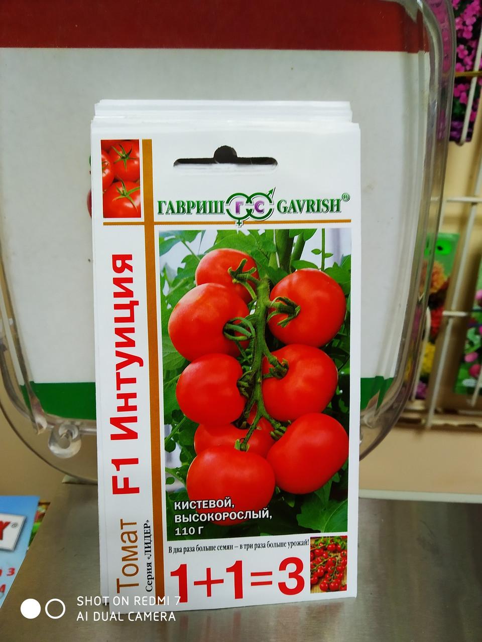 """Томат насіння кистьовий, високорослий """"Інтуїція F1"""", 25 шт, для теплиць , Гавриш насіння, Росія"""