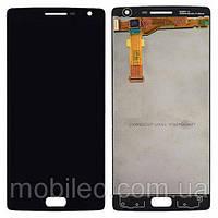Дисплей (LCD) OnePlus 2   A2003 с тачскрином и рамкой, чёрный
