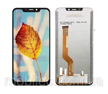 Дисплей (LCD) Oukitel C12 Pro с тачскрином, чёрный