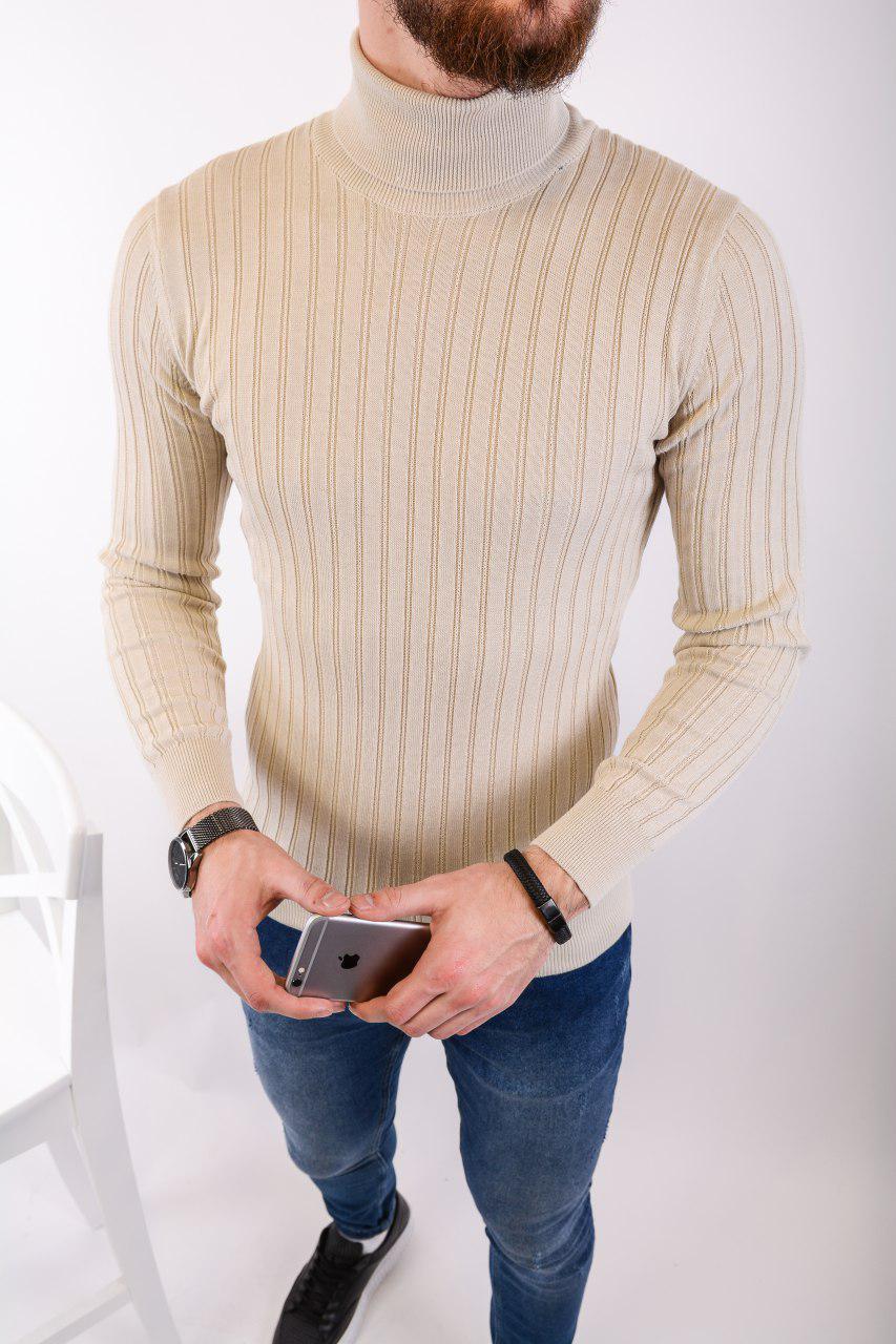 Мужской свитер бежевый 2433