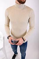 Мужской свитер бежевый 2433, фото 1