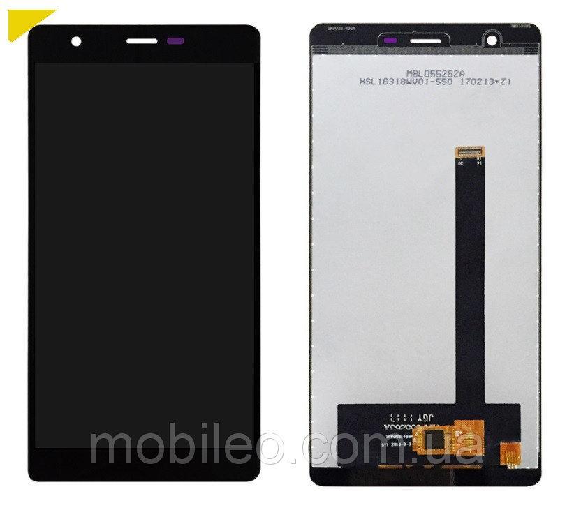 Дисплей (LCD) Oukitel U13 с тачскрином, черный