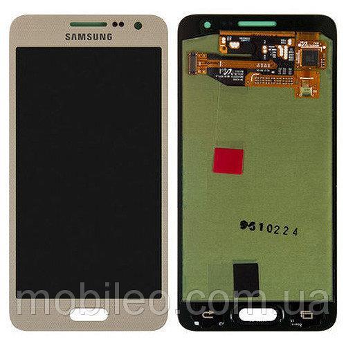 Дисплей (LCD) Samsung A300 Galaxy A3 (2015) TFT с тачскрином, золотой