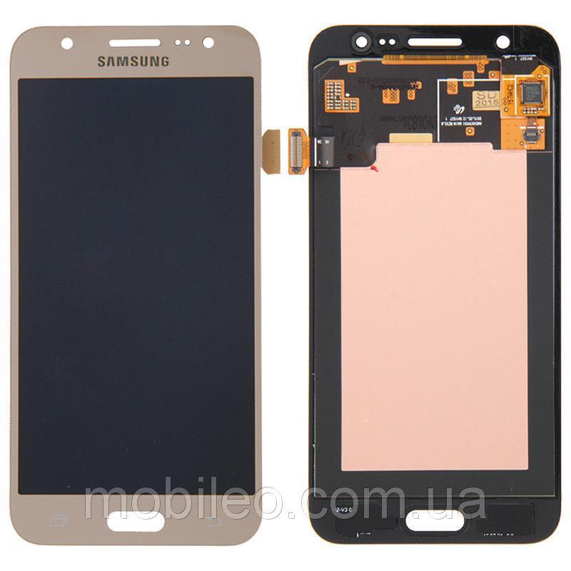 Дисплей для Samsung GH97-17670B J700 Galaxy J7 Amoled с тачскрином, золотой (сервисный оригинал)