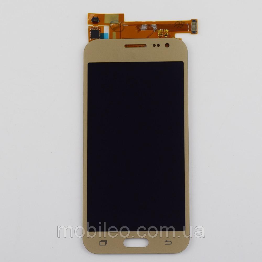 Дисплей (LCD) Samsung GH97-17940B J200 Galaxy J2 AMOLED с тачскрином, золотой (сервисный оригинал)