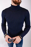 Мужской свитер темно-синий 2433, фото 1