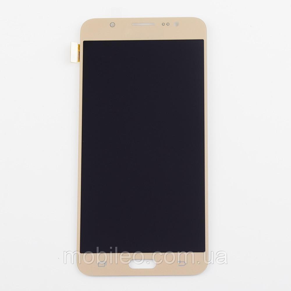 Дисплей (LCD) Samsung GH97-18855A J710 Galaxy J7 (2016) с тачскрином, золотой (сервисный оригинал)