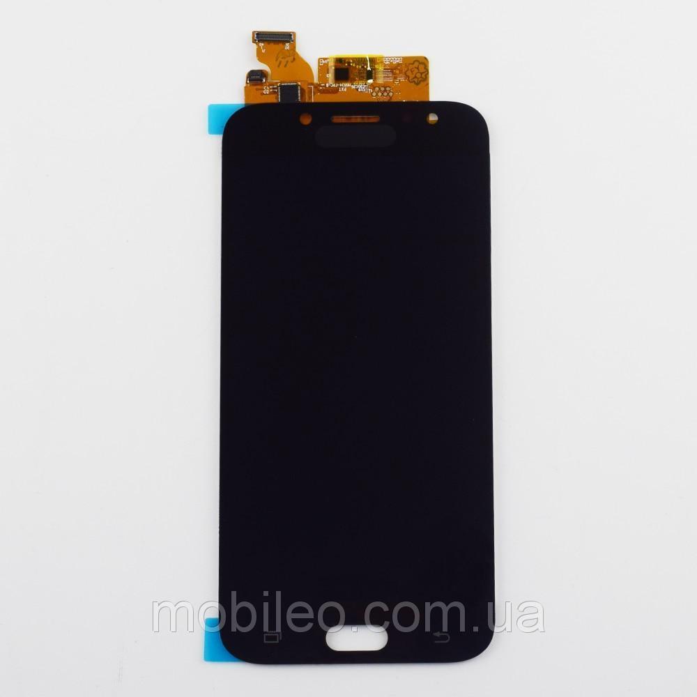 Дисплей (LCD) Samsung GH97-20736A J730 Galaxy J7 (2017) AMOLED с тачскрином, чёрный (сервисный оригинал)