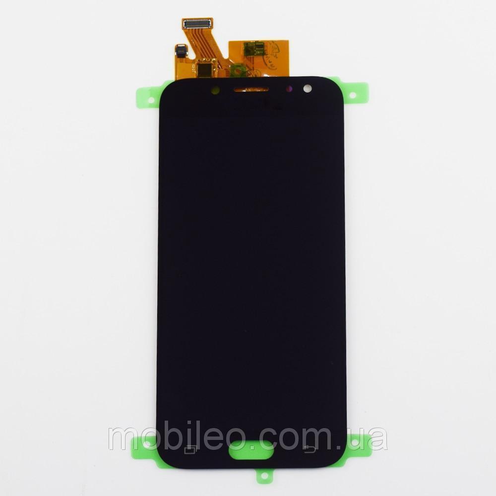 Дисплей (LCD) Samsung GH97-20738A J530 Galaxy J5 Pro (2017) AMOLED с тачскрином, чёрный (сервисный оригинал)