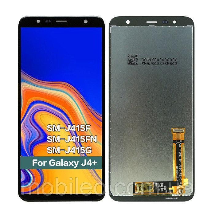 Дисплей для Samsung GH97-22582A J415 Galaxy J4 Plus (2018) | J610 PLS с тачскрином, черный (сервисный
