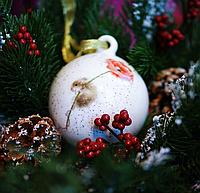 Фарфоровый шар на елку Мышка 924-483. Символ 2020 года