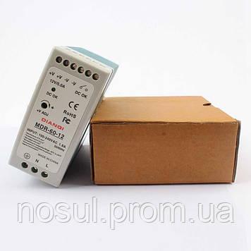 MDR-60-12 блок питания, 12B 5A 60Вт, для монтажа на DIN-рейку
