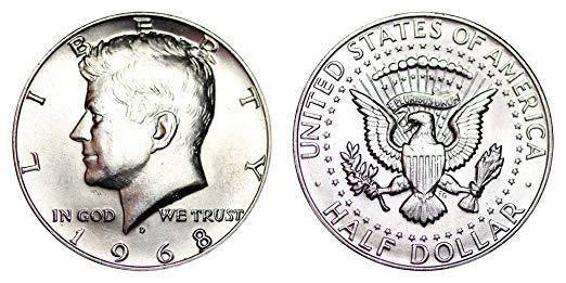Монета 50 центов США | US Half Dollar Coin (оригинал), фото 2