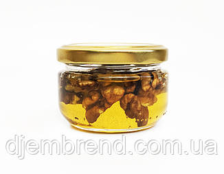 Мед с грецким орехом в баночке, 140 г