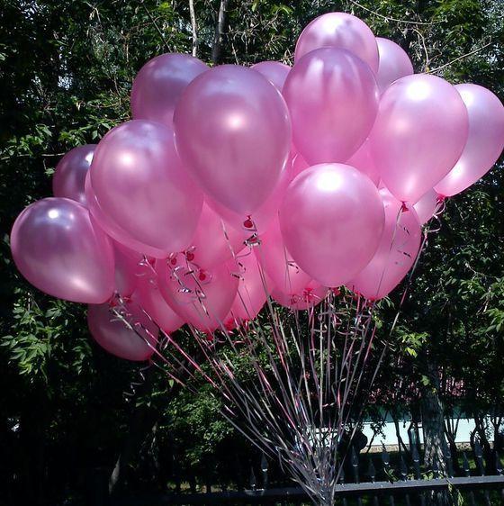 Шар латекс розовый перламутр 38842